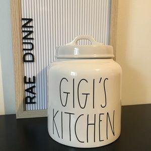 Rae Dunn Gigi's Kitchen Canister